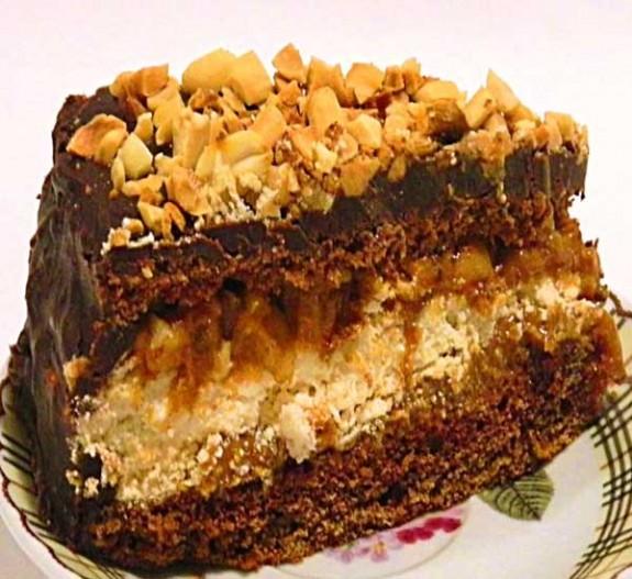 готовим торт сникерс рецепт с фото пошагово
