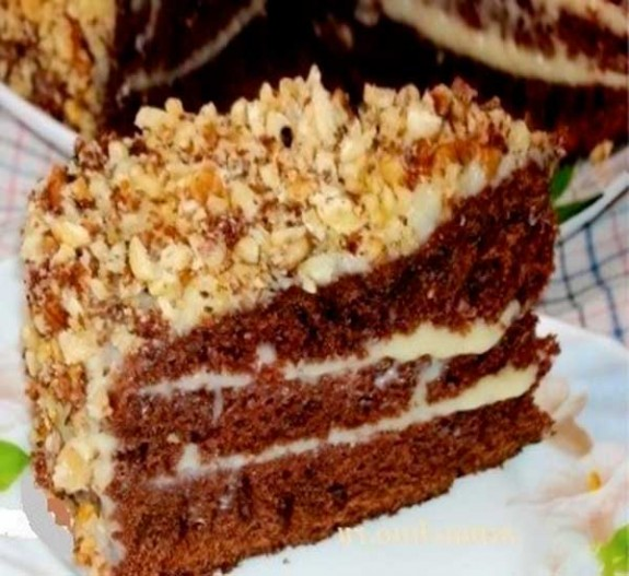 рецепт торт с какао быстрый