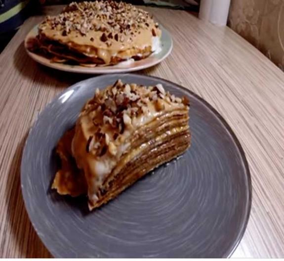 Как приготовить блинный торт рецепты с кремом сгущенкой