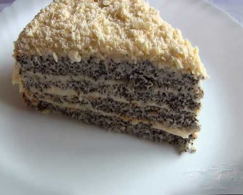 Пошаговый рецепт макового торта с