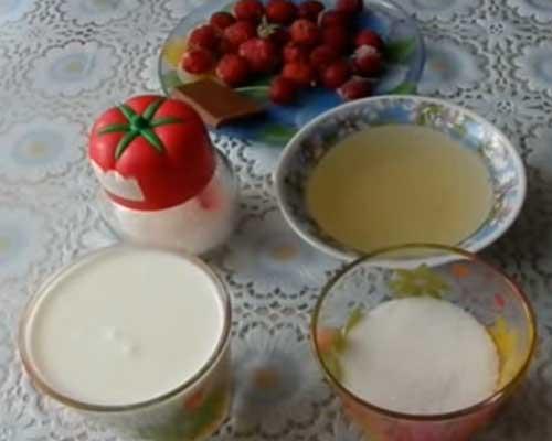загустить крем из сметаны желатином