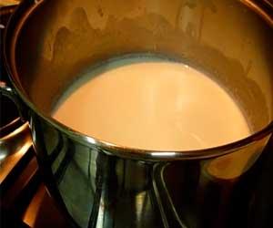 подогреваем молоко