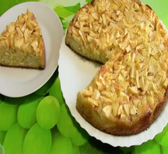 как приготовить пирог с яблоками на кефире