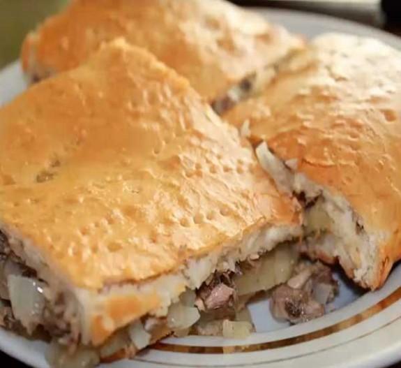 Тесто на пирог с сайрой и картошкой