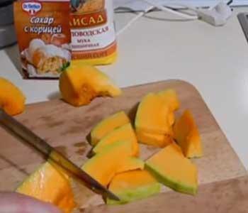 как приготовить яблочный пирог на кефире с тыквой