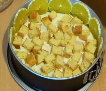 делаем бисквитный торт с желатином и фруктами и ягодами