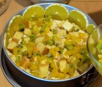 как делать бисквитно желейный торт с фруктами и ягодами