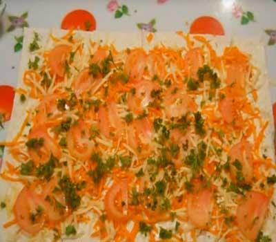 готовим фаршированный лаваш с корейской морковью