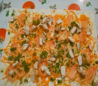 готовим рулетики из лаваша с корейской морковью