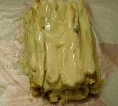 торт полено из слоеного теста быстрый наполеон