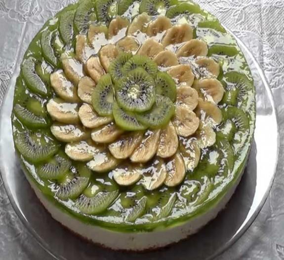 торт с фруктами в желе рецепт пошагово с фото