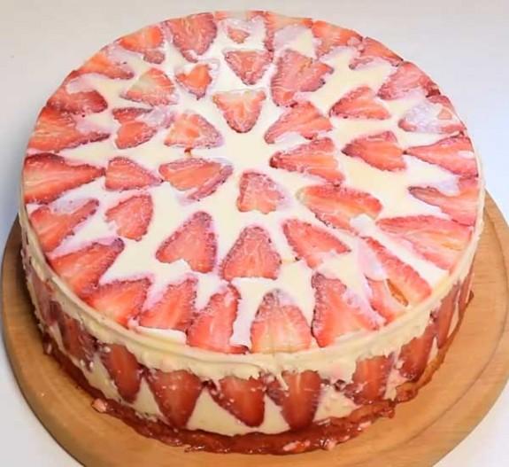 торт в холодильнике рецепт с желатином